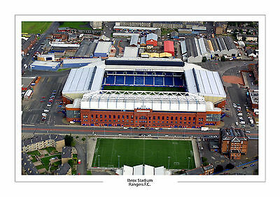 Aerial Photo Rangers F.c. Ibrox Stadium A4 Print Photo