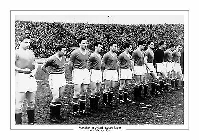 Busby Babes 1958 Manchester United Winners Squad Photo A4 Print Photo Man Utd