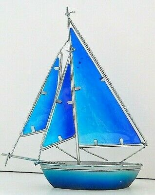 Stained Glass Cutter Sailing Yacht 26 Cm Boat Nautical Beach Seaside