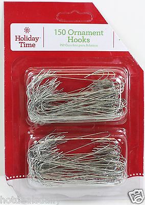 "450 Silver Wire Ornament Hooks Approx 2-1/2"" Lot Of 3 Packs Of 150 Each"