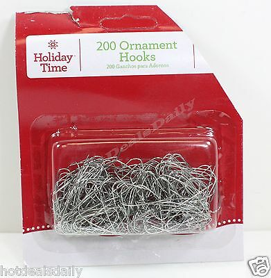 "600 Silver Wire Ornament Hooks Approx 1-1/2"" Lot Of 3 Packs Of 200 Each"