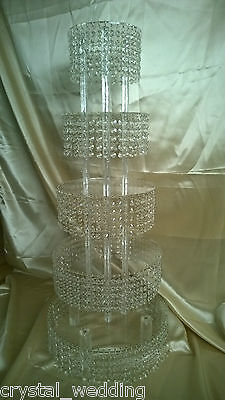 Crystal Cupcake or cake stand tower    5 Tier Crystal chandelier style