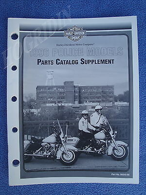 Harley 1996 Touring Police Parts Catalog Manual Supplement 99545-96 New