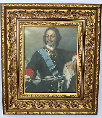 Peter  the Great   Framed Oleograph  R518#E Reproduction Picture , Art    .