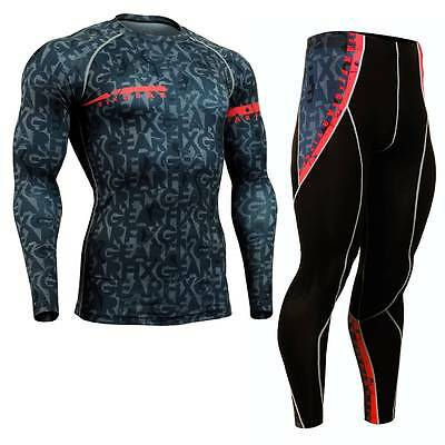 FIXGEAR CFL/P2L-g6 SET Compression Shirts & Pants Skin Tights MMA Training Gym