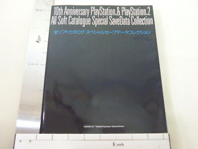 PS PS2 ALL SOFT CATALOG SAVE DATA w/DVD 10th Anniv. Guide Book MW*