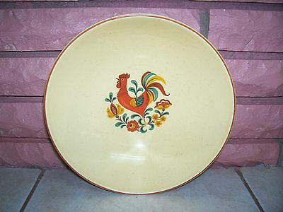 "TAYLOR SMITH & TAYLOR REVEILLE ROOSTER 9"" SERVING BOWLS"