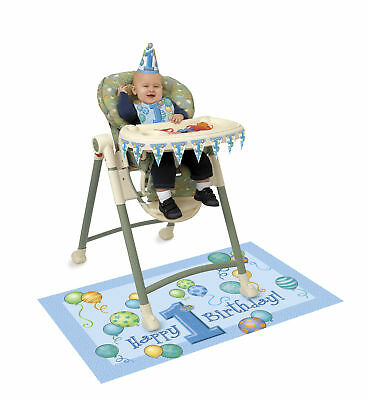 High Chair Kit 1st Birthday Party Boys Swirly One Blue Decorations