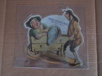 "THE POGUES Sally Maclennane / Wild Rover STIFF 7"" RARE UK SHAPED PICTURE DISC"