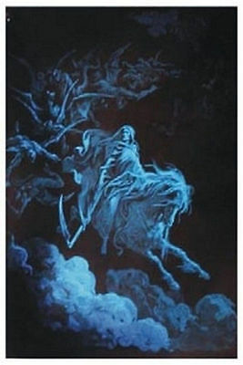 Death Rides A Pale Horse - Blacklight Poster - 24X31 Skeleton Gothic 410
