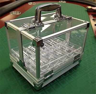 Caddy 600 Poker Chips Carrier Locking Caddy WITH Chip Racks Holds 600 Chips NEW*