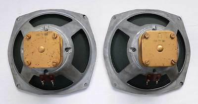 """PERFECT MATCHED PAIR 9"""" LOEWE OPTA ALNICO DRIVERS NT3 FROM 1953"""