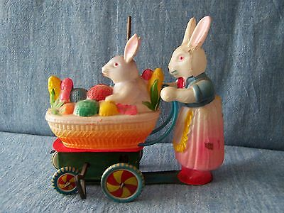 Mama Rabbit with Baby in Buggy in working condition!