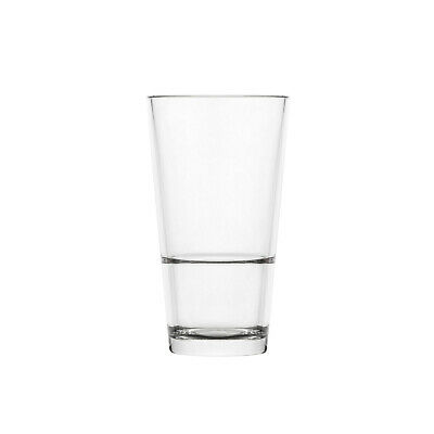 24x Polysafe Highball 355ml Polycarbonate Glassware, Plastic Stackable 'Colins'
