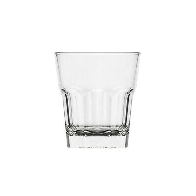 24x Plastic Polysafe Rocks Double Old Fashioned 350ml, Looks Just Like Glass!