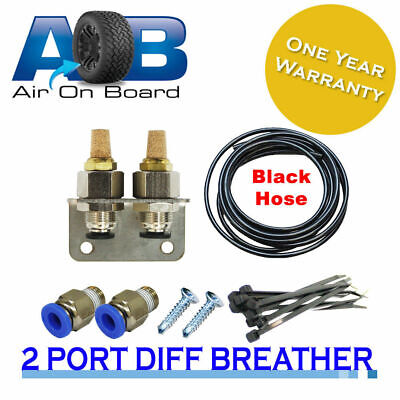 Diff Breather Kit 100 2 port diff for Landcruiser Nissan Mazda offroad Universal