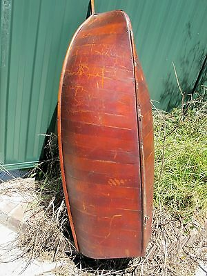 Large Australian Cedar Model Racing Yacht126 Cm Long, Pond Boat, Balmain Bug.
