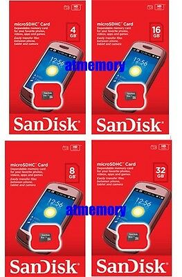 Sandisk Mobile 4GB 8GB 16GB 32GB Micro SD SDHC SDXC Class 4 Memory Card New