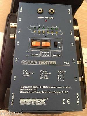 Proaudio Ct3 Tester Per Cavi Professionale Speakon Rj45 Trs-jack Rca Din Xlr Dj Equipment Musical Instruments & Gear