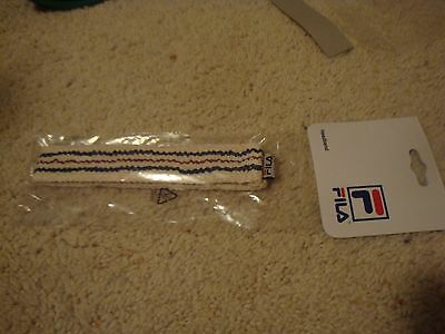 VTG Fila Bjorn Borg Richie Tenenbaum Headband retro red white blue 70s 80s Royal