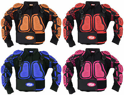 KIDS STERN MOTOCROSS ARMOUR 4 6 8 10 12 YEAR - youth protection suit jacket quad