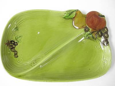 Lefton's Green Fruit Plater 12x8""