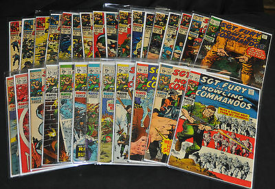Sgt. Fury and His Howling Commandos #'s 41 & 47-74 - (Grades 2.0 - 6.5/7.0) WH