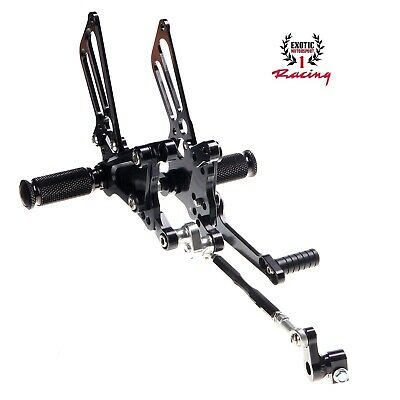 CNC Billet Rearset Foot Pegs MV Agusta F4 Anodized Black 1998-2009