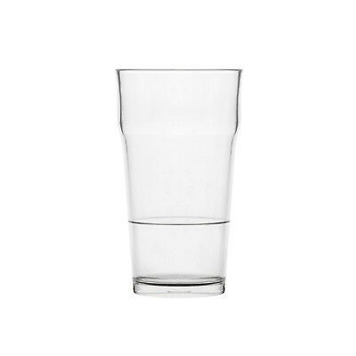 24x Plastic Polysafe Nucleated Beer Pint 550ml 'Nonic' Looks Just Like Glass NEW