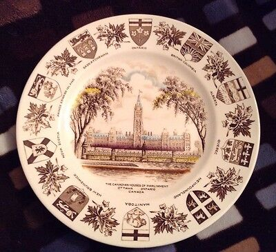"Vintage Wood & Sons ""Canada"" Plate from Burslem England Parliament"