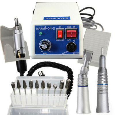 Dental Marathon MicroMotor Polisher with 35K rpm Straight Contra Angle Handpiece
