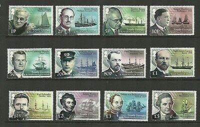 South Georgia -2015 Ships & Explorers Set New Issue Mnh