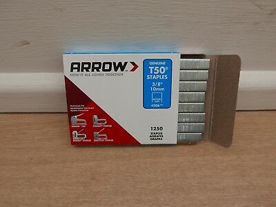 Arrow T-50 T50 Tacker Staples 10Mm 1250 Per Pack