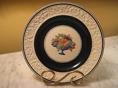 Set of SIX Woods Handcraft Ware Honey Glazed plates made in England, fruit bowl