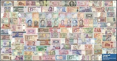 TWN (BE) - 100 WORLD DIFFERENT UNC BANKNOTES Cat. Value $176.50 - FREE SHIPPING