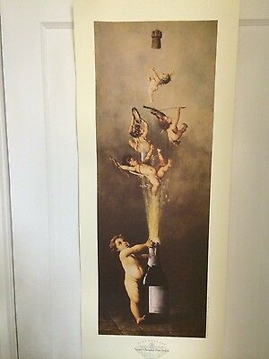 Champagne Veuve Clicquot Angel Poster on heavy paper