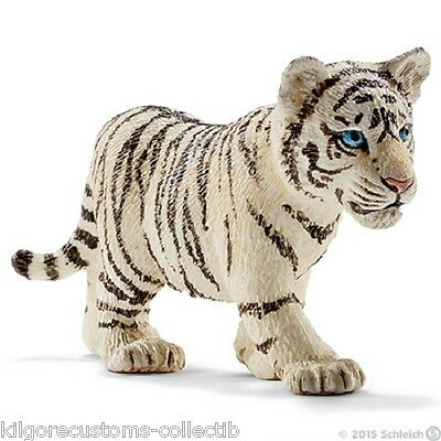 Schleich Figurine Tiger Cub White Walking  #14732 Wild Life  Toy  NEW 2015