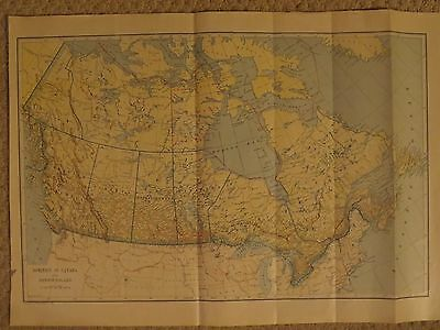 1921  Original LARGE    Map DOMINION OF CANADA & NEWFOUNDLAND DATED