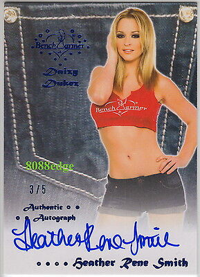 2012 Benchwarmer Daizy Dukez Auto:heather Rene Smith #3/5 Blue Autograph Playboy