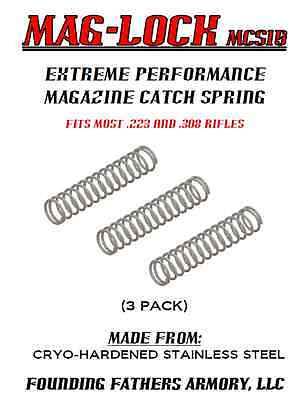 Extreme Performance Mag. Catch Spring, Stainless Steel (3 Pack), Usa Made