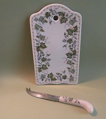 ANDREA  BY SADEK Porcelain Cheese Tray & Knife, Appetizer Tray, Serving Tray