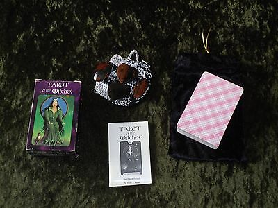 Vintage TAROT of the WITCHES - 78-Card Deck with Cleansing Stones & Pouches