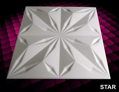 3D WALL CEILING PANELS POLYSTYRENE TILES (Pack of 24) 6 Sqm - STAR 3D