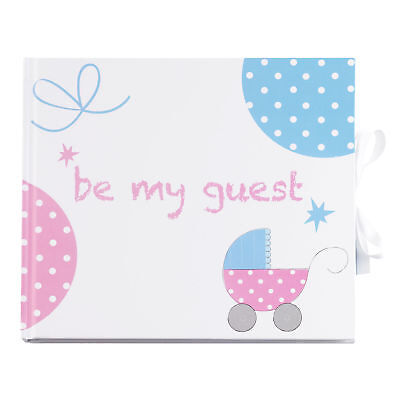 Guest Book Gifts & Favours Unisex Blue & Pink Baby Shower Party