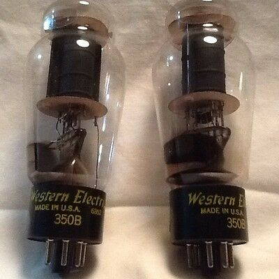 Pair of Western Electric 350B Tubes