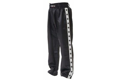Cimac Satin Kickboxing Trousers Silver Martial Arts Pants Extreme Freestyle