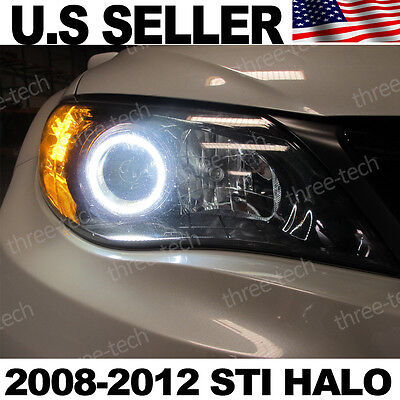 08 09 10 11 12 Subaru STI Custom Angel Eye 6000k JDM Style DRL Super Bright LED