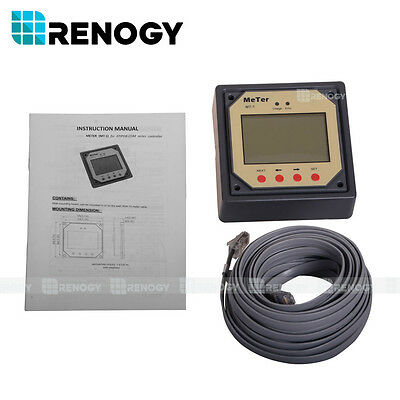 Renogy MT-1 Remote Meter LCD Display for Duo Battery Charge Controller