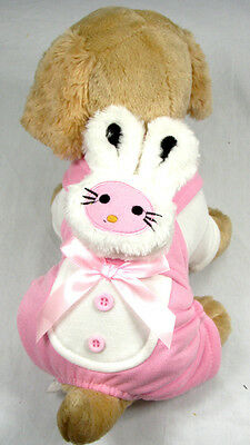 """Pink 12"""" Dogs Body Rabit Style Pet Dogs Coat Free Shipping Dogs Clothing"""