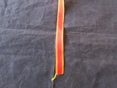 Miniature Fire brigade Long service   medal - Ribbon 6 inches (150mm) long